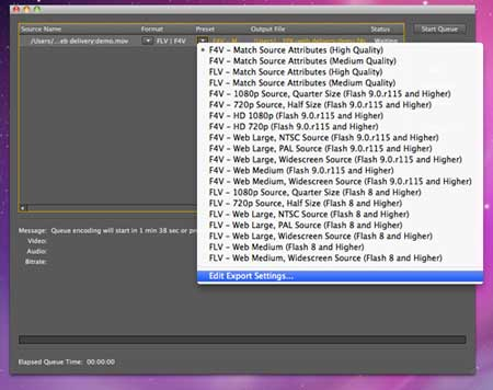 Encoding with Adobe Media Encoder CS5